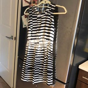 Parker black and white dress